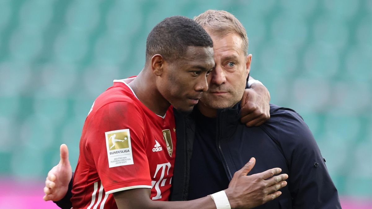 David Alaba (l.) und Hans-Dieter Flick