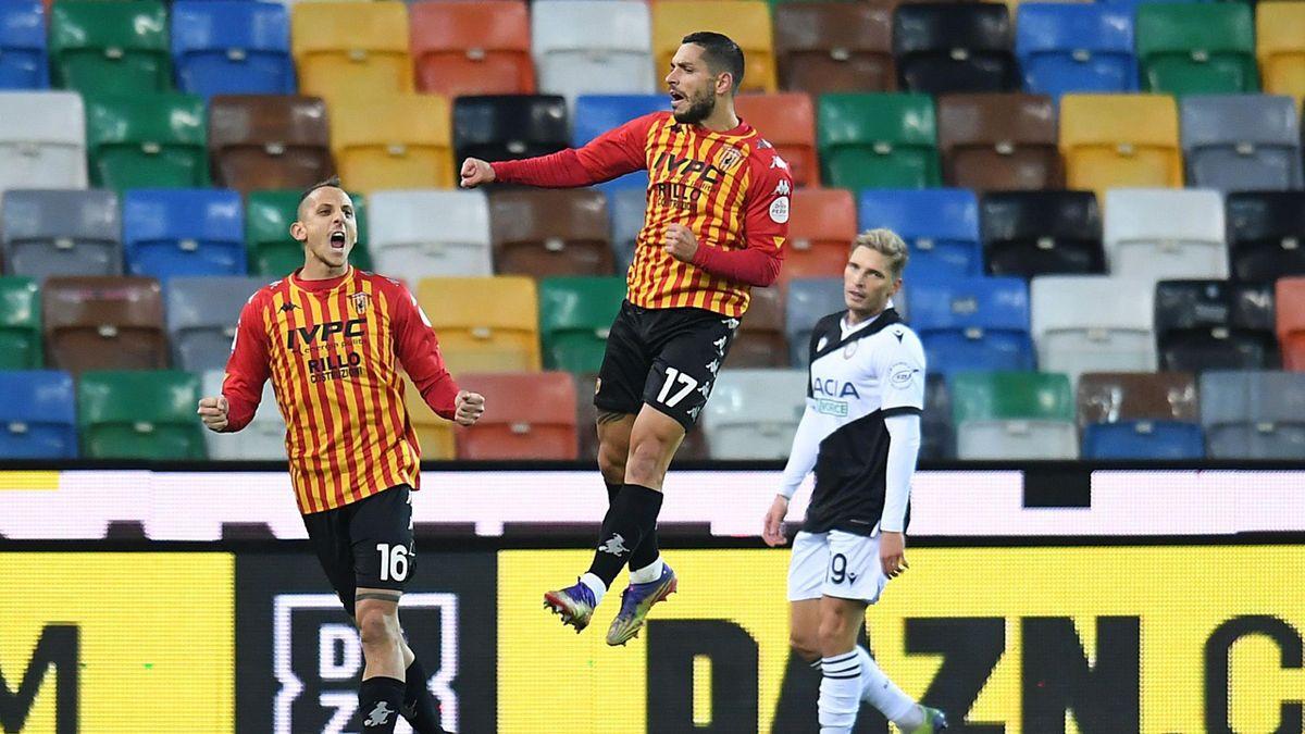Gianluca Caprari, Udinese-Benevento, Getty Images
