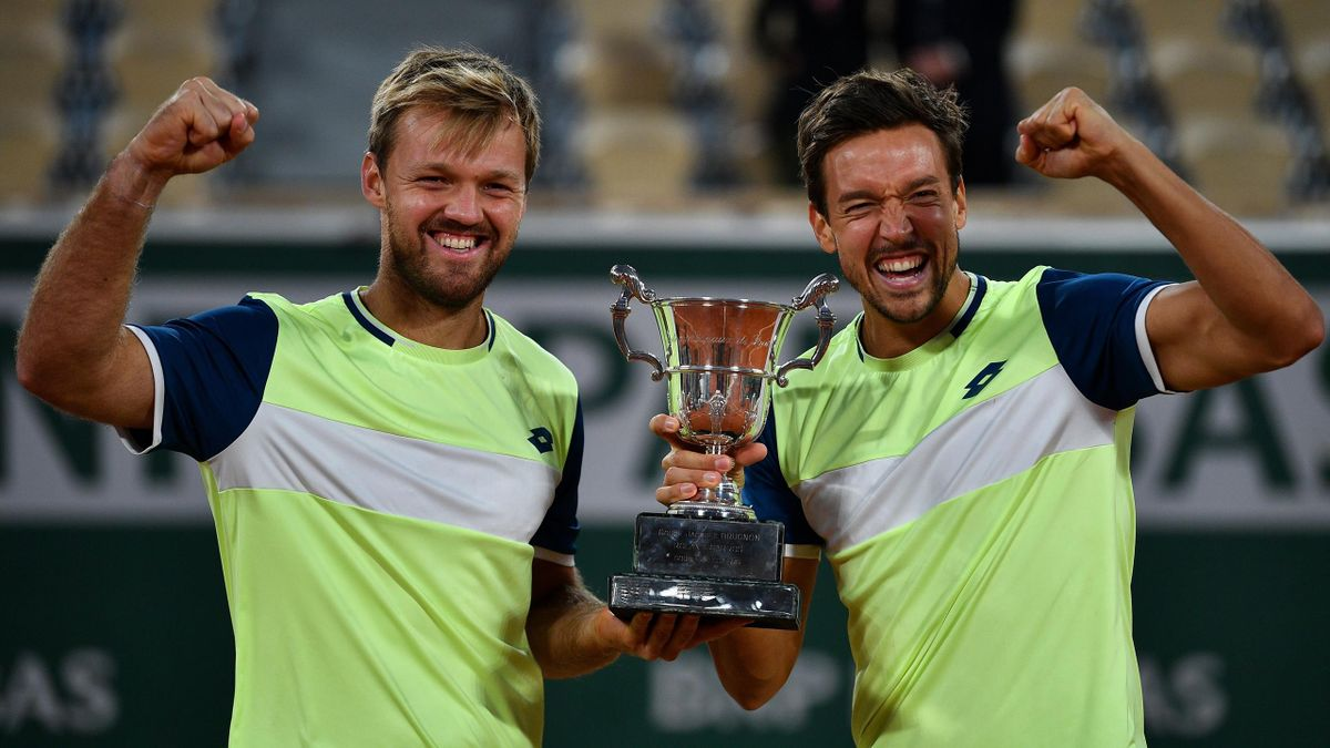 French-Open-Champions Kevin Krawietz (li.) und Andreas Mies (re.)