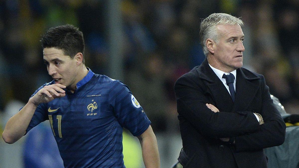 15 novembre 2013, à Kiev : Didier Deschamps décide de sortir Samir Nasri. Face à l'Ukraine, le Citizen connaît sa 41e et dernière sélection en équipe de France.