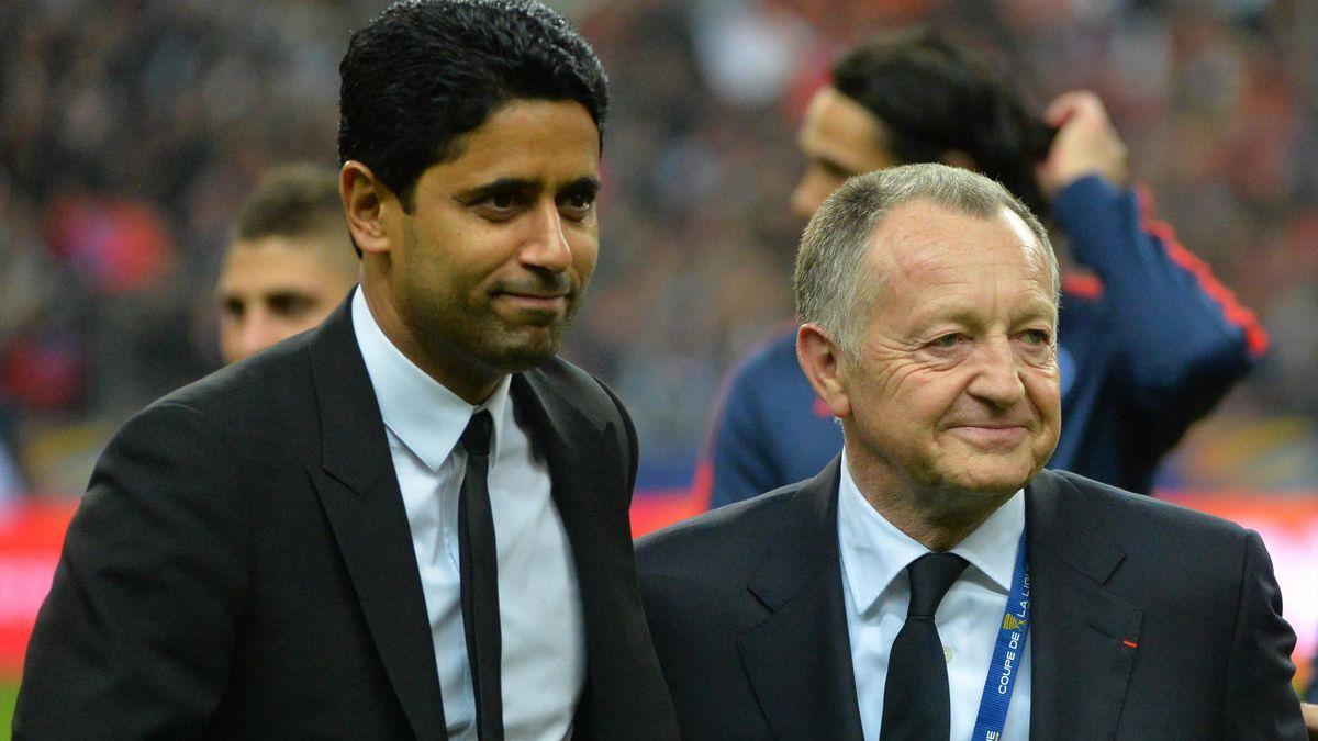 Jean-Michel Aulas et Nasser Al-Khelaifi, deux présidents salués par l'UEFA