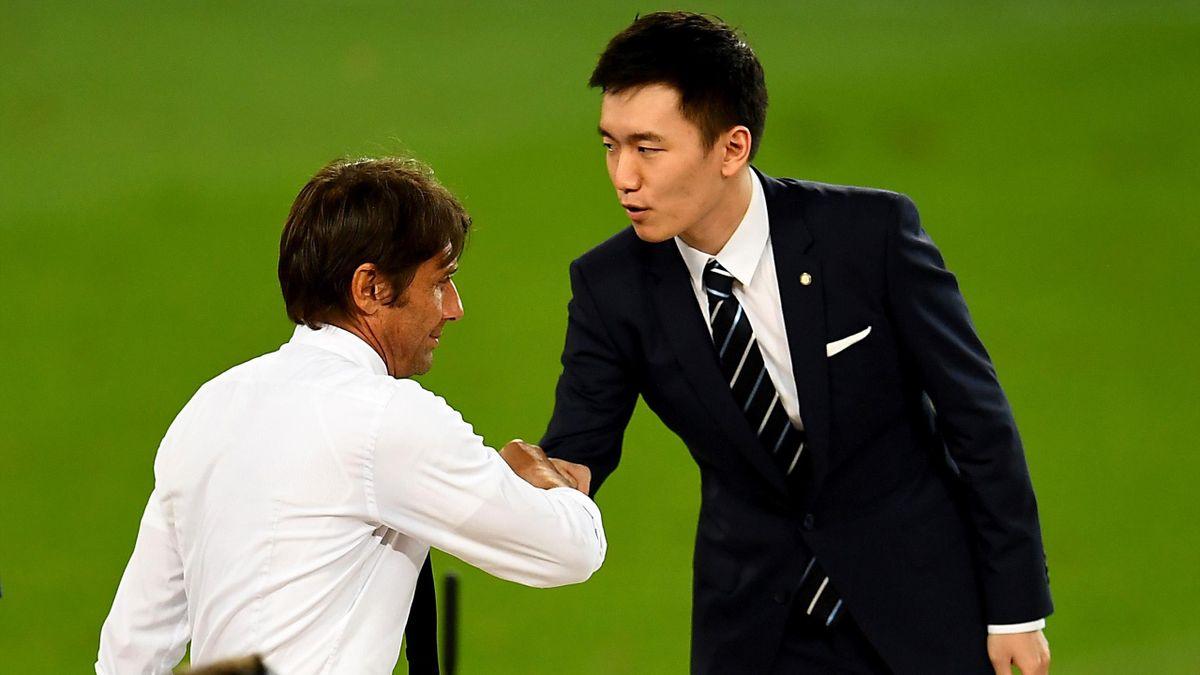 Steven Zhang, Antonio Conte, Siviglia-Inter, Getty Images