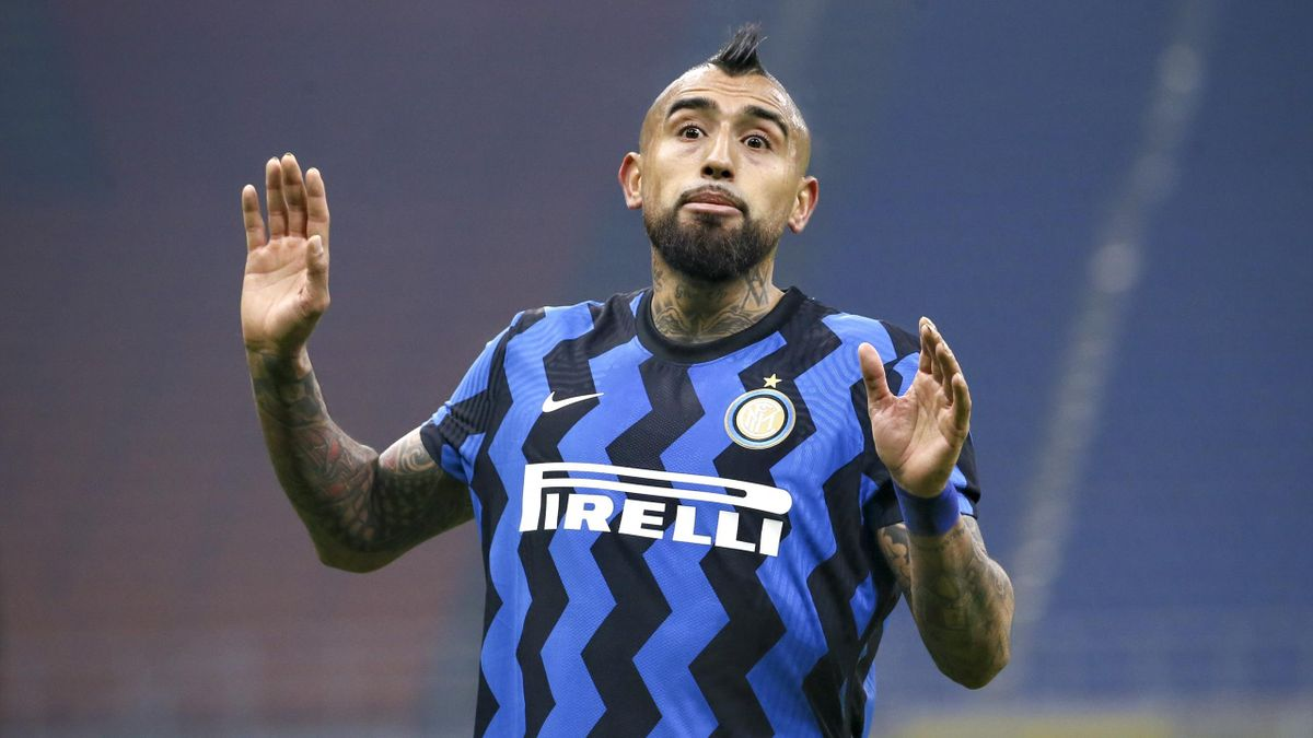 Arturo Vidal lors du match de Serie A entre l'Inter Milan et la Juventus Turin, le 17 janvier 2021 à San Siro.