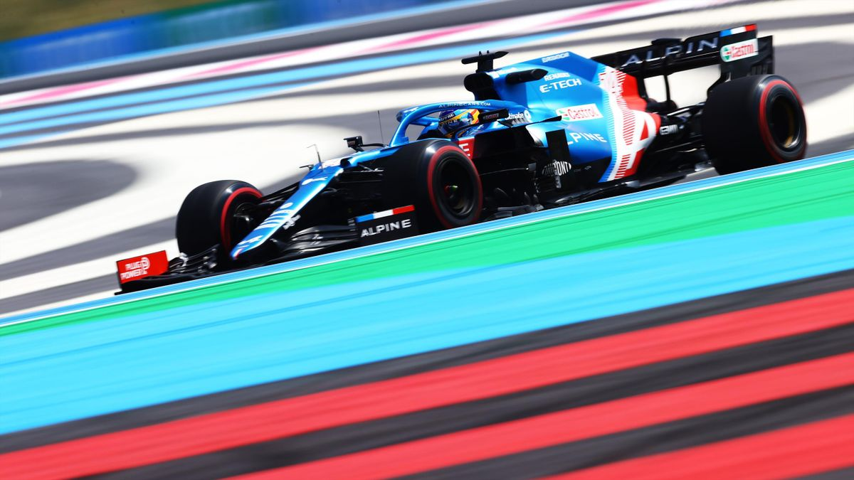 Fernando Alonso, en su Alpine.