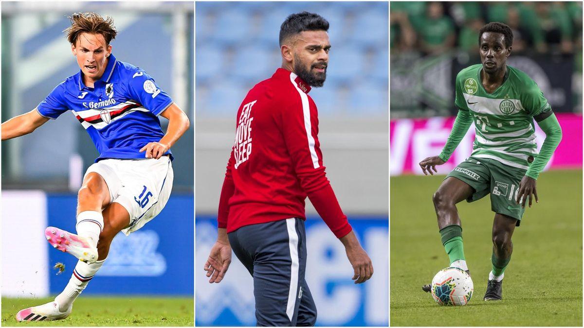 Kristoffer Askildsen (Sampdoria), Ghayas Zahid (Panathinaikos) og Tokmac Nguen (Ferencvaros)