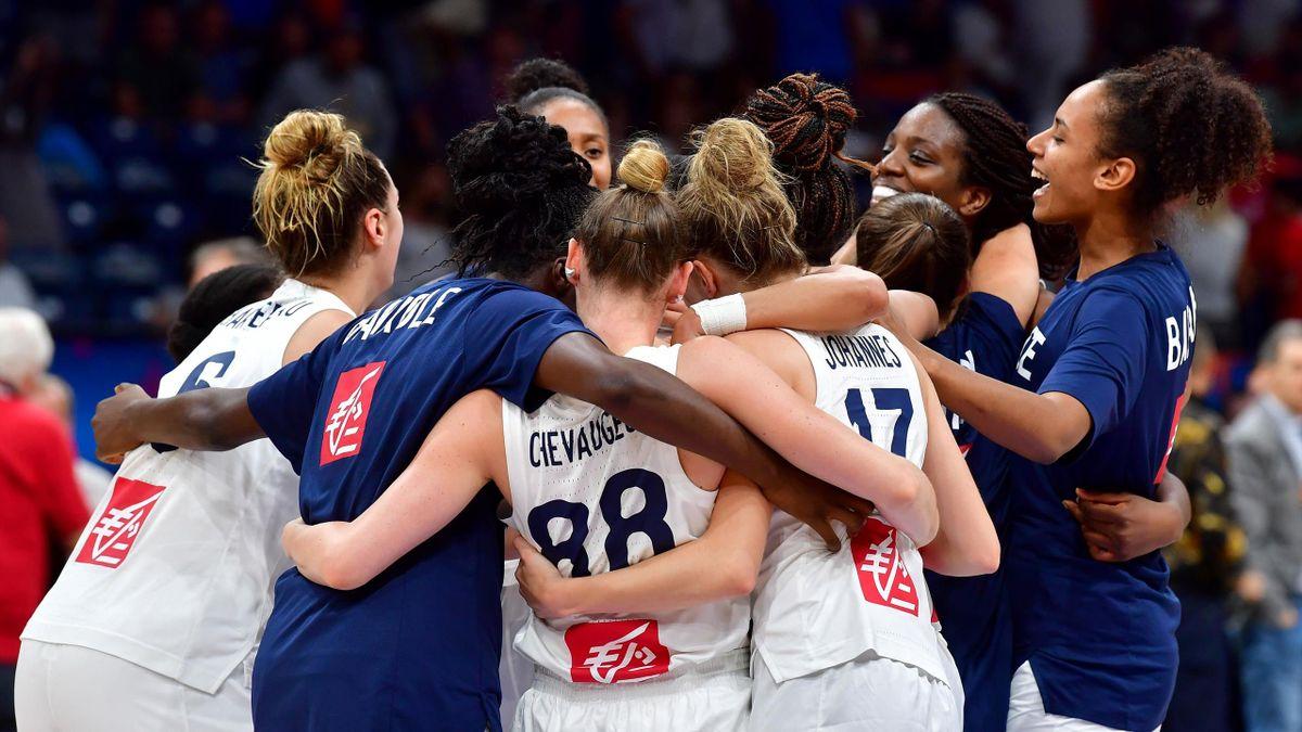 Equipe de France féminine lors de l'Eurobasket 2019