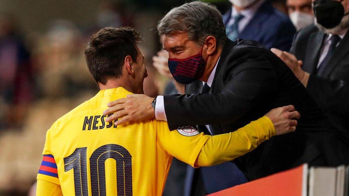 Leo Messi, Joan Laporta