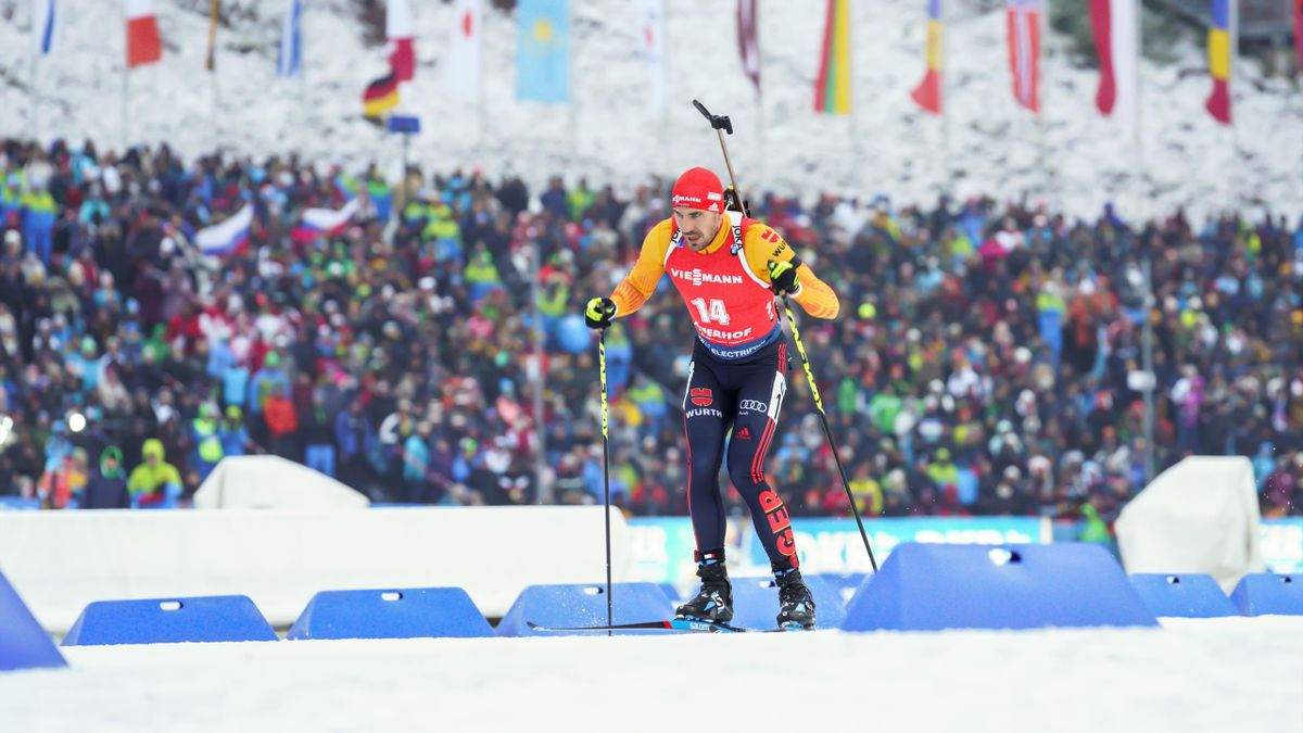 Arnd Peiffer beim Weltcup-Rennen in Oberhof im Januar 2020