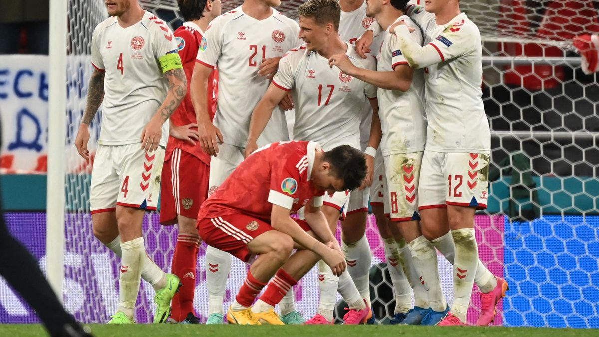 Россия – Дания на Евро-2020