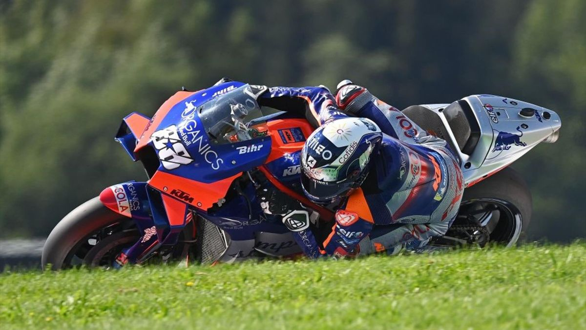 Red Bull KTM 3 Portuguese rider Miguel Oliveira rides during the qualification during the MotoGP of the Styrian Grand Prix at Red Bull Ring circuit in Spielberg, Austria on August 22, 2020