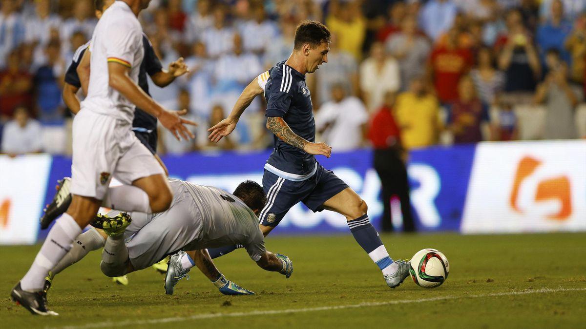 Leo Messi (Argentina), marca ante Bolivia