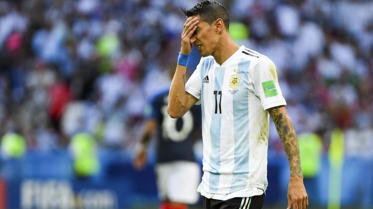 Angel Di Maria sous le maillot de l'Argentine.