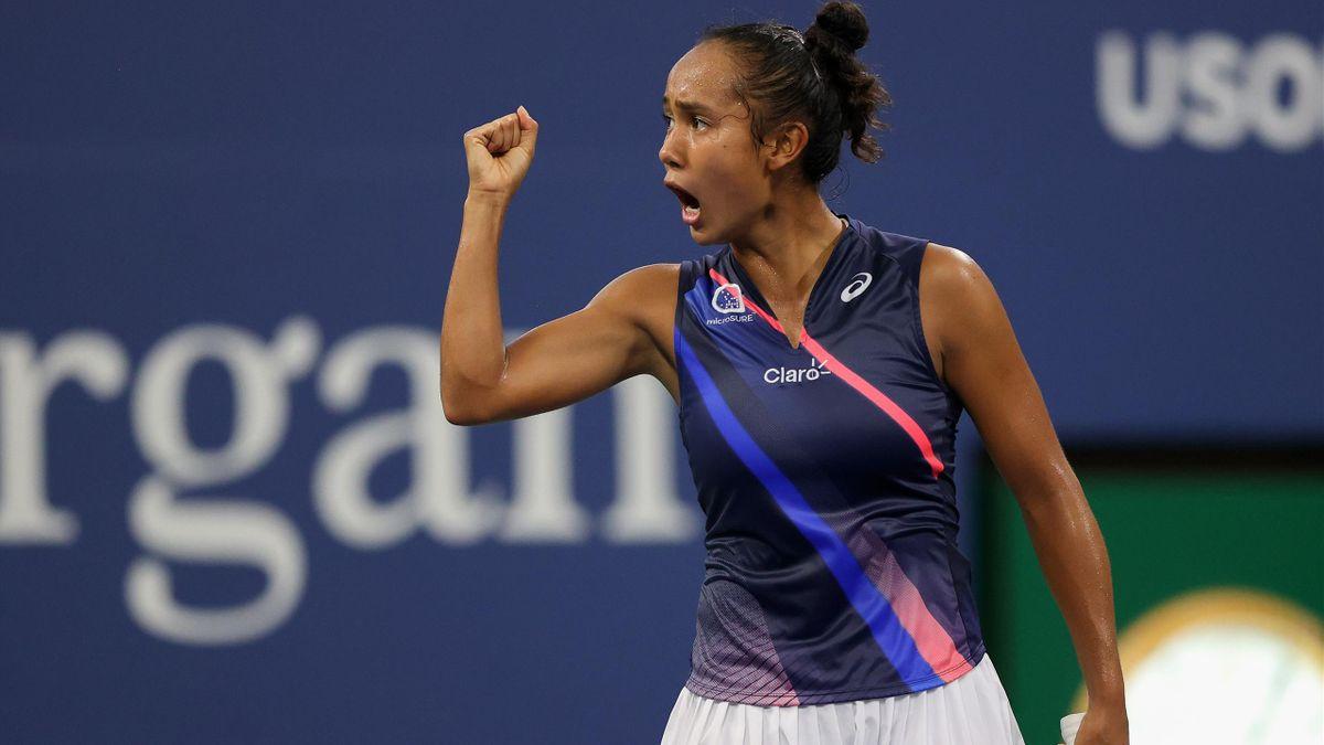 Leylah Fernandez face à Angélique Kerber à l'US Open