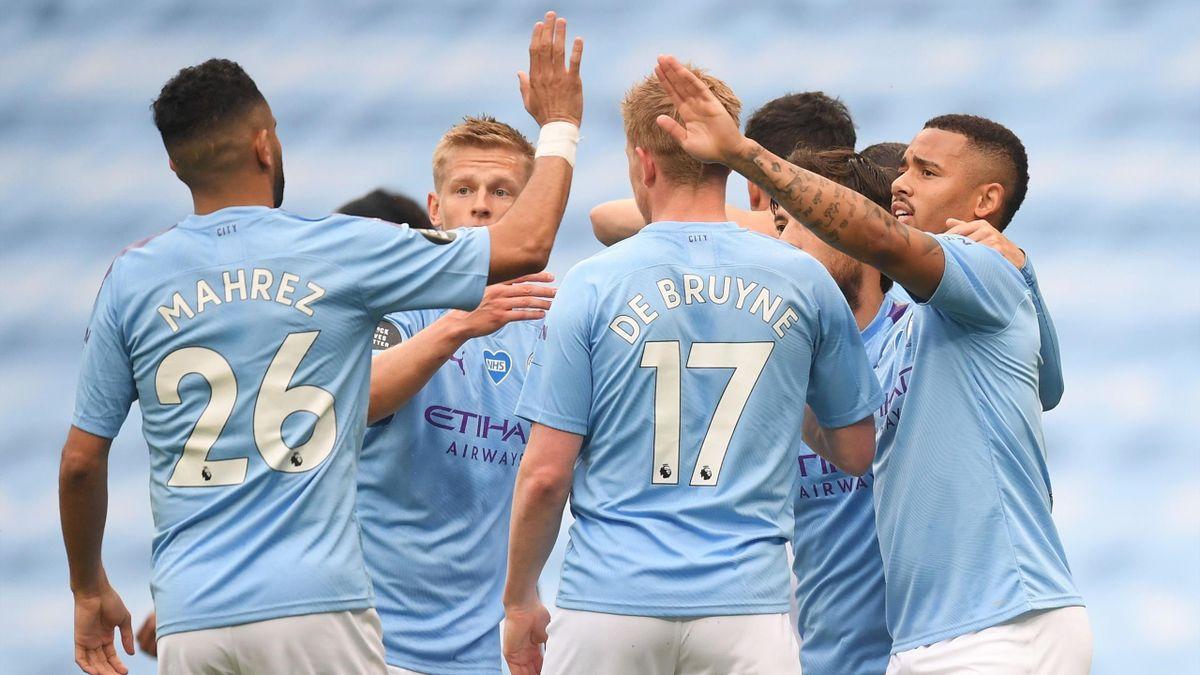 Die Spieler von Manchester City jubeln