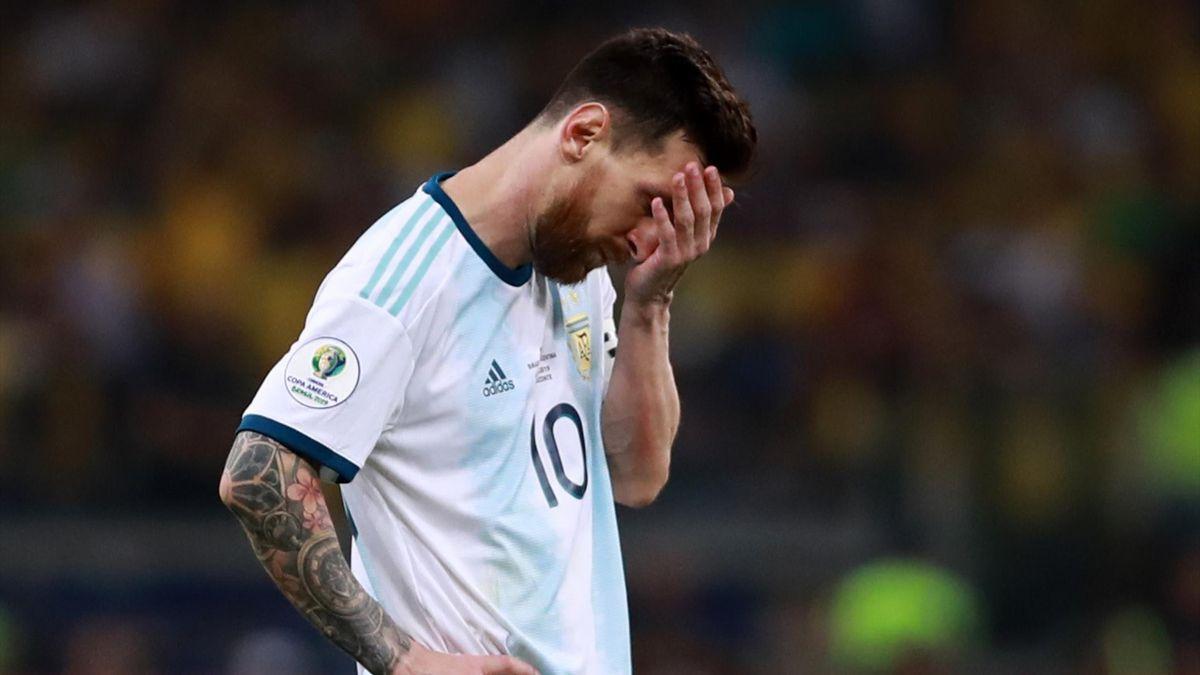 Messi deluso in Brasile-Argentina, Copa America