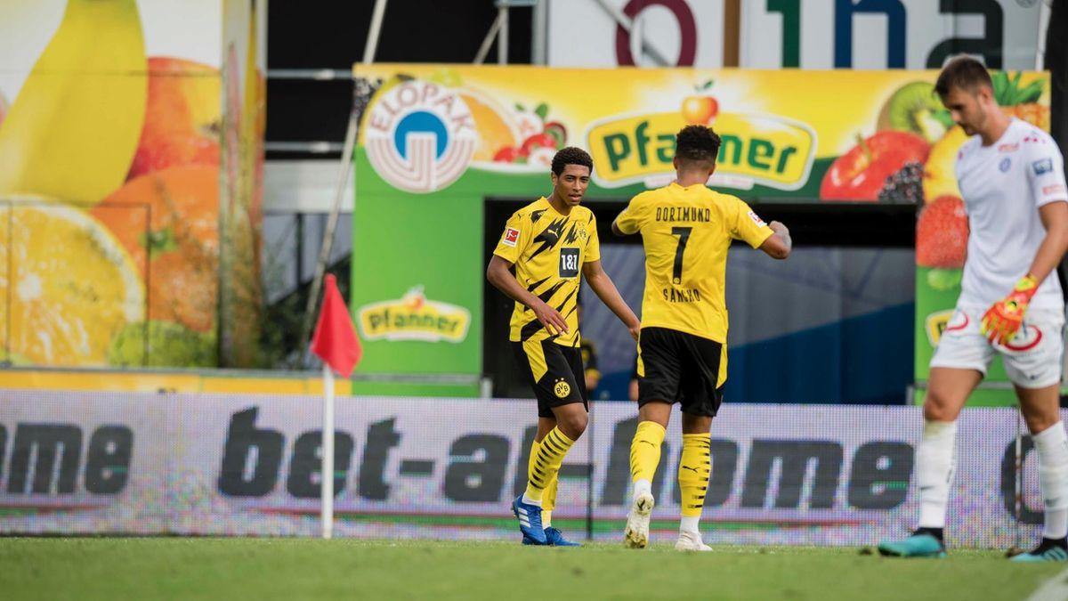 Jadon Sancho și Jude Belligham, jucătorii Borussiei Dortmund