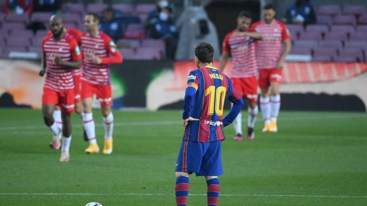 La delusione di Lionel Messi - Barcellona-Granada Liga 2020-21