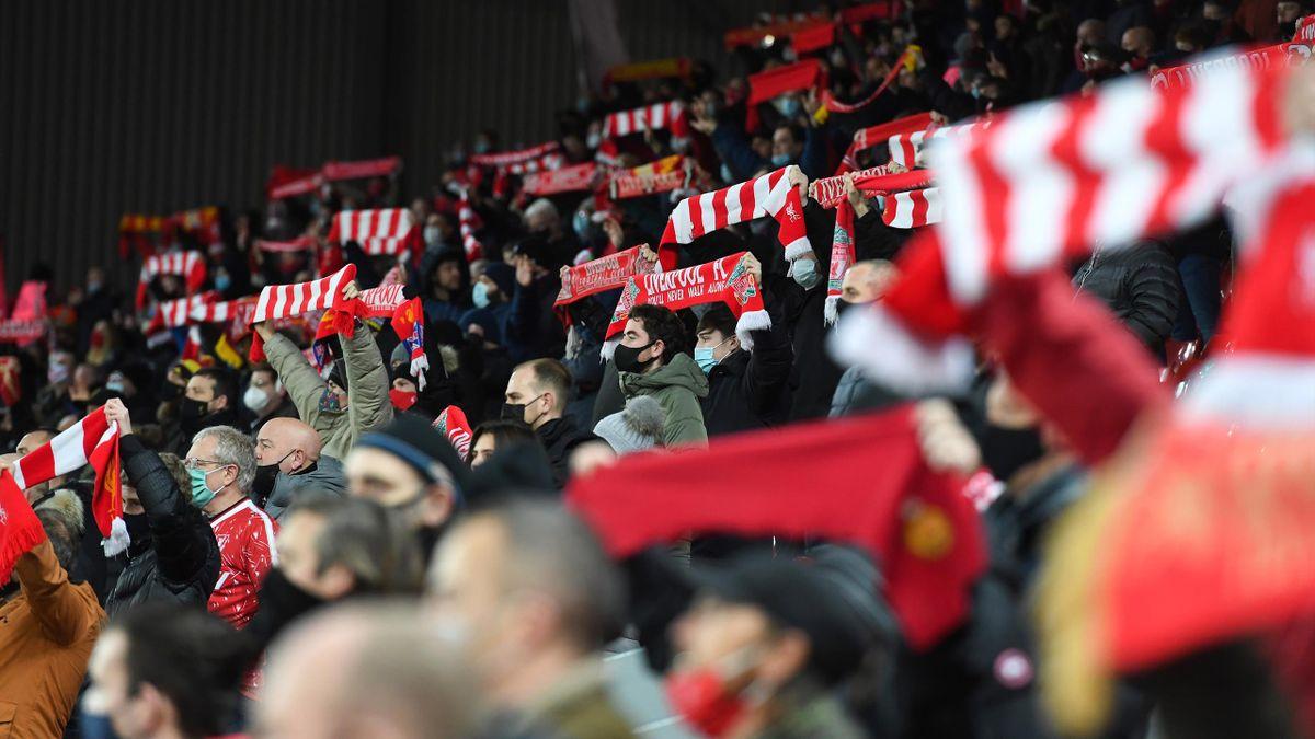 Auch an der Liverpooler Anfield Road können wohl am Mitte Mai wieder Fans ins Stadion