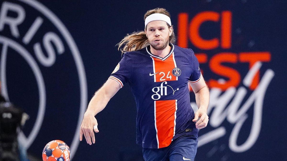Mikkel Hansen (PSG), lors du succès 39-21 face à Cesson-Rennes en Division 1 - 03/10/2020