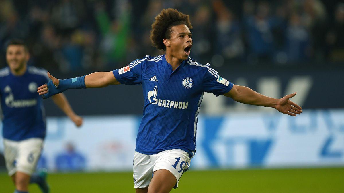 Leroy Sane (Schalke) face à Francfort - Bundesliga 2015/2016