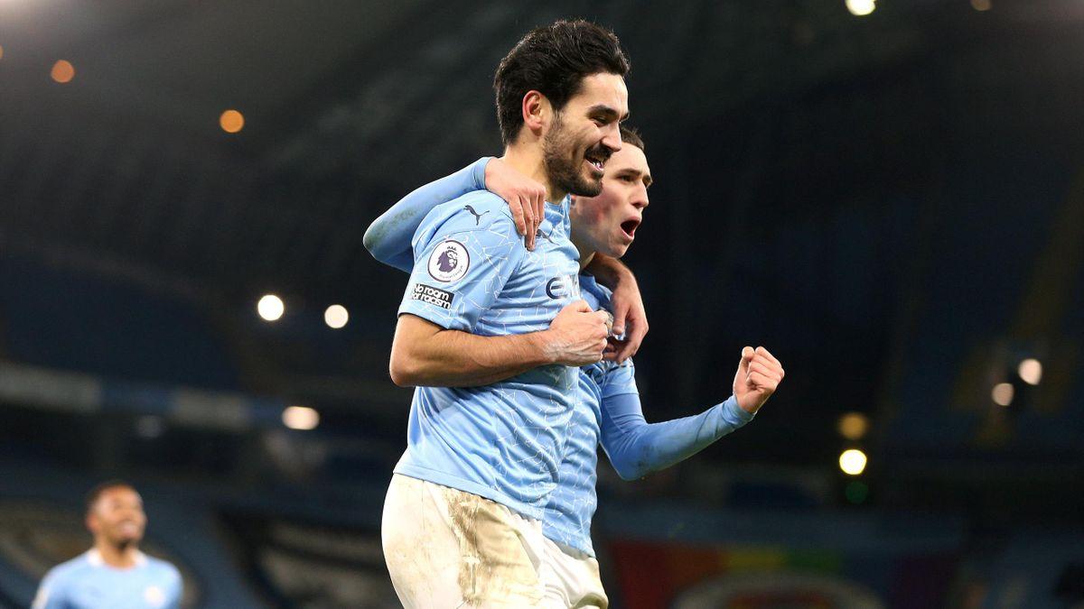 Ilkay Gundogan of Manchester City celebrates