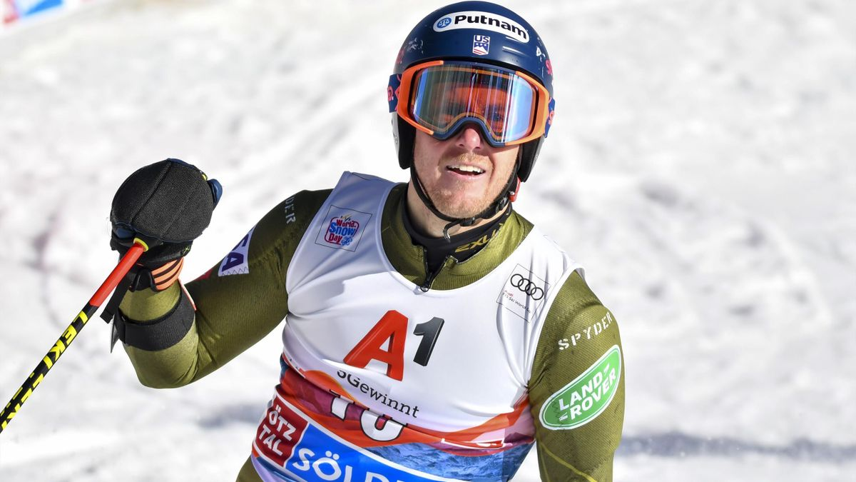 Ted Ligety of Unitet States of America in the second run of the Audi FIS Alpine Ski World Cup - Men's Giant Slalom at Rettenbachferner on October 27, 2019