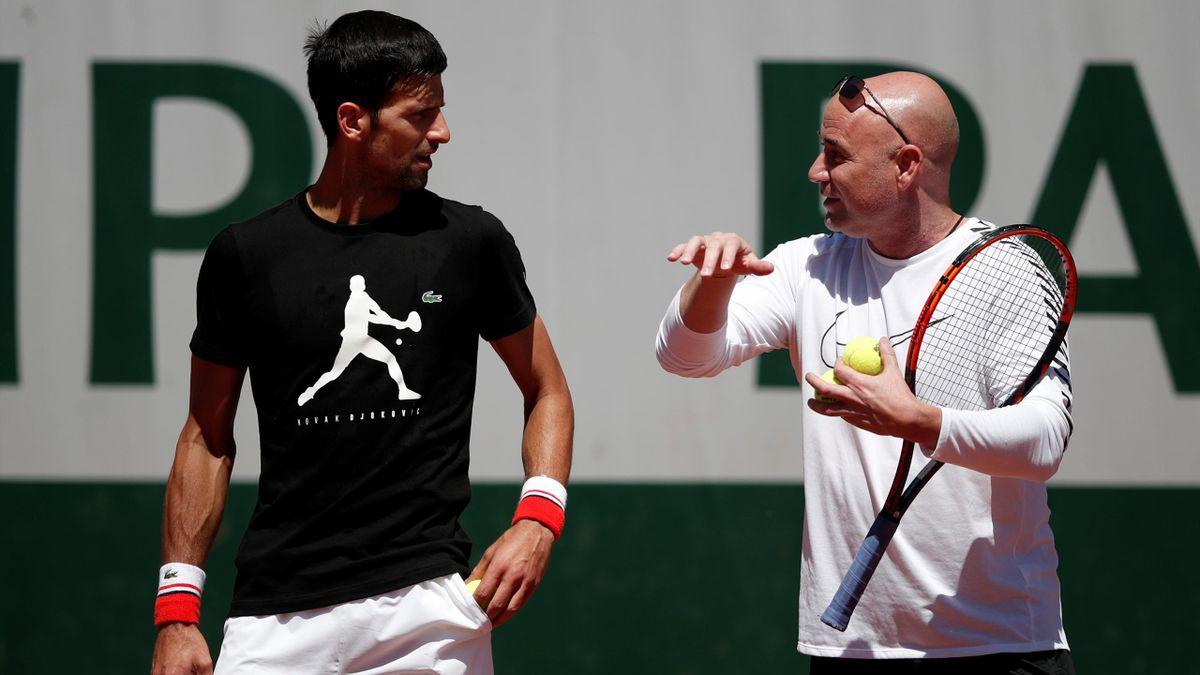 Novak Djokovic with Andre Agassi
