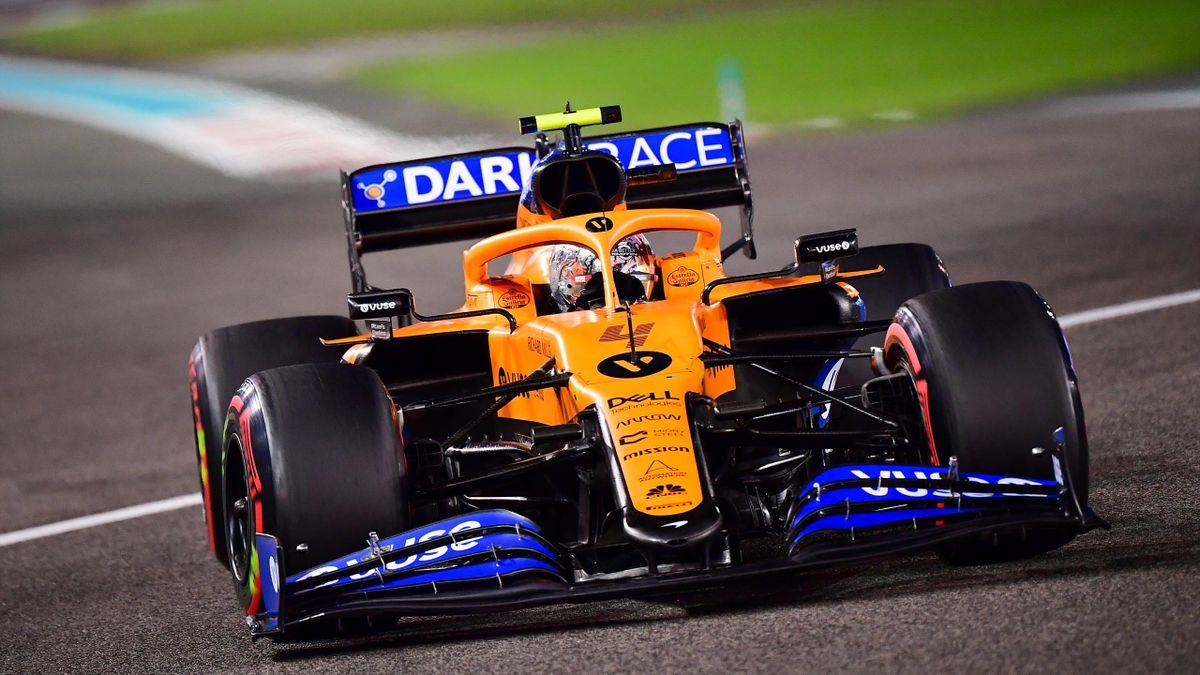 Lando Norris races for McLaren