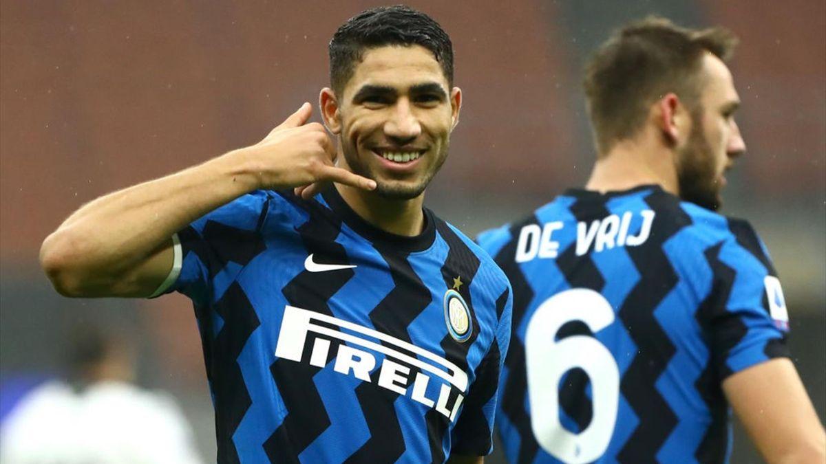 Hakimi sblocca Inter-Spezia