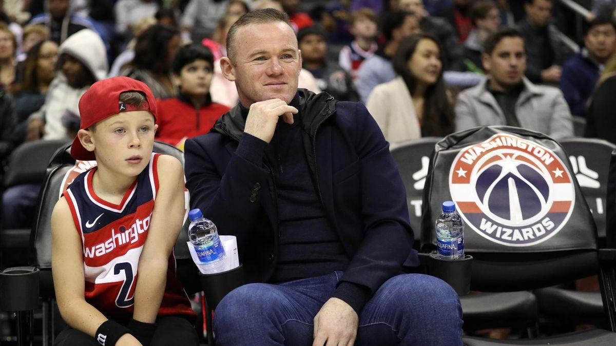 Уэйн Руни с сыном Каем