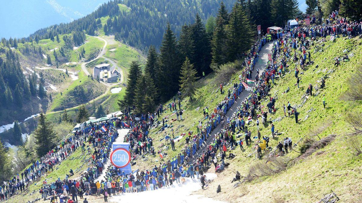Der Monte Zoncolan beim Giro d'Italia