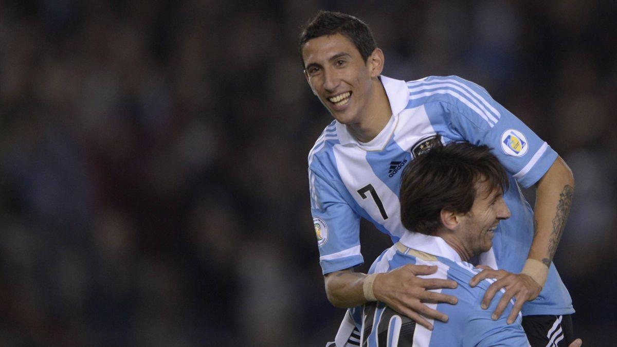 Angel Di Maria avec Lionel Messi (Argentine) - 2014