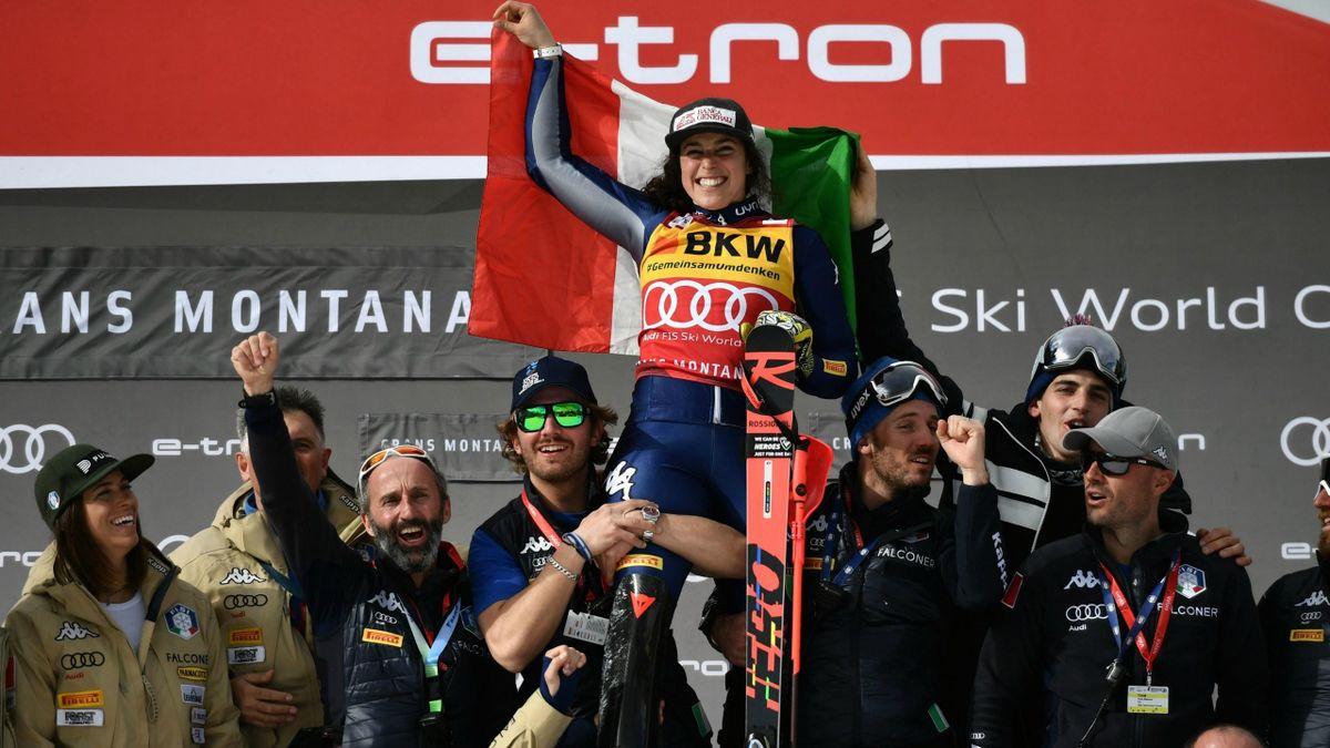 Federica Brignone (Italy), winner of the Alpine Combined in Crans Montana
