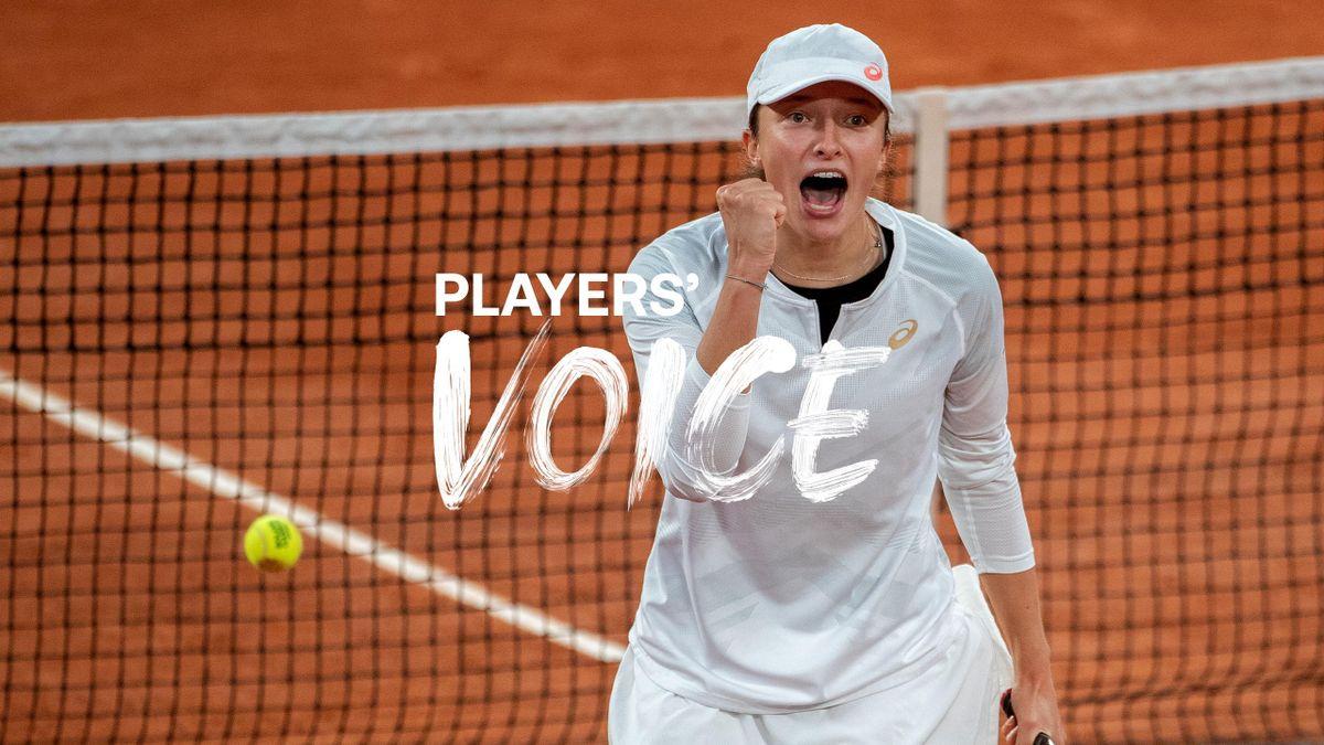 Players' Voice mit Iga Swiatek