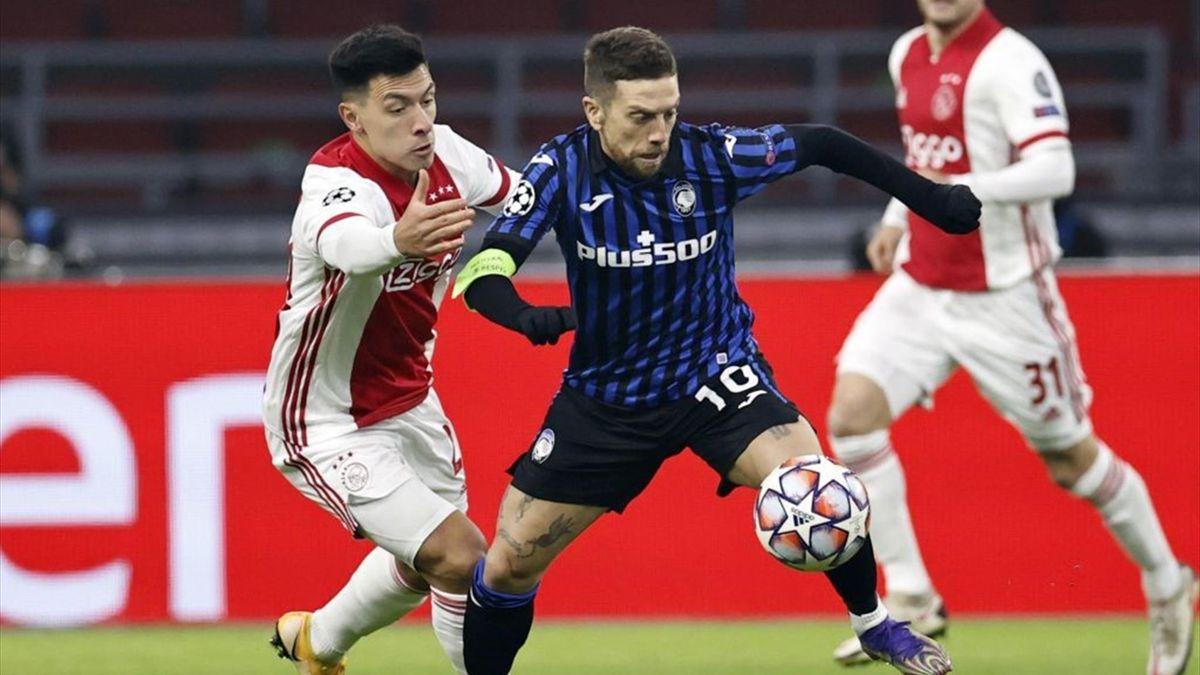 Lisandro Martinez, Alejandro Papu Gomez - Ajax-Atalanta Champions League 2020-21