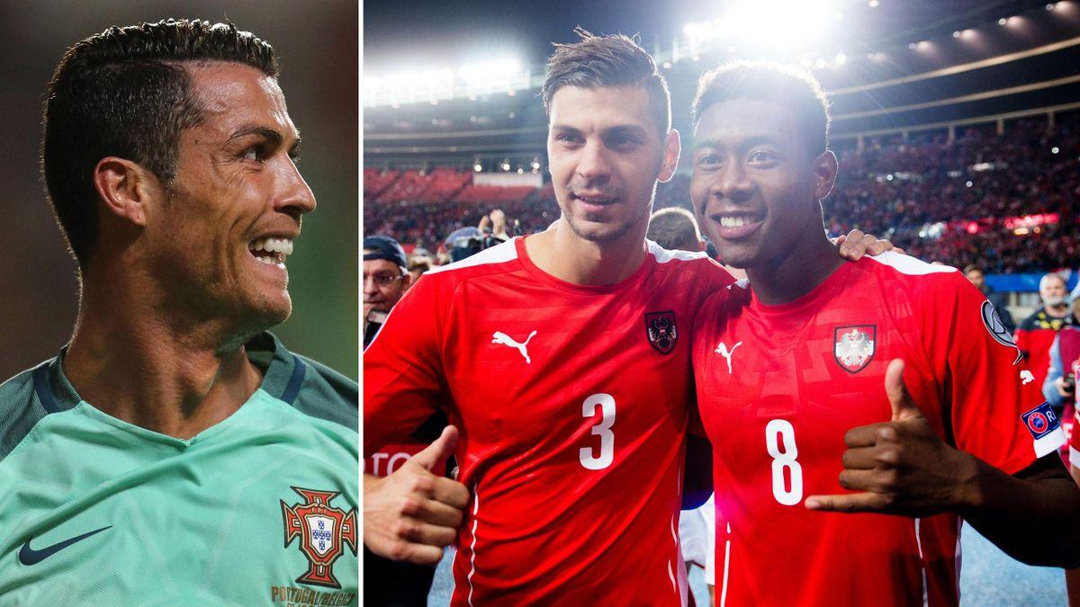 Cristiano Ronaldo schaut auf Österreich
