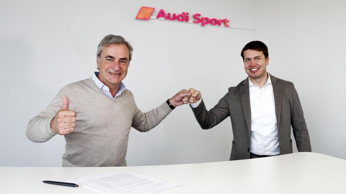 Carlos Sainz, nuevo piloto de Audi (Foto: Audi-mediacenter)