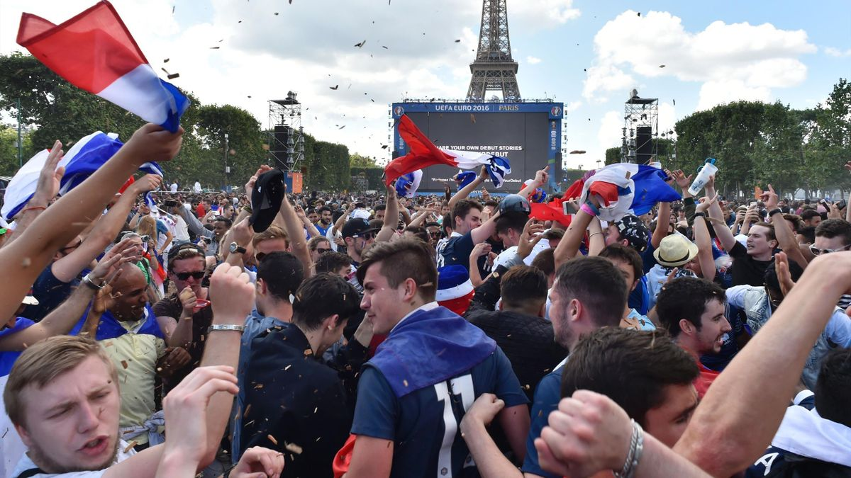 Une fan-zone à Paris lors de l'Euro 2016.