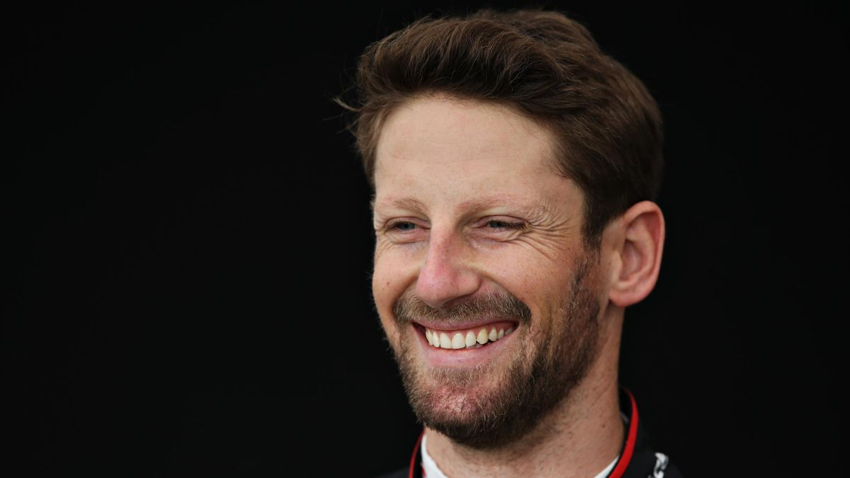 Romain Grosjean tout sourire en Australie, le 12 mars 2020.