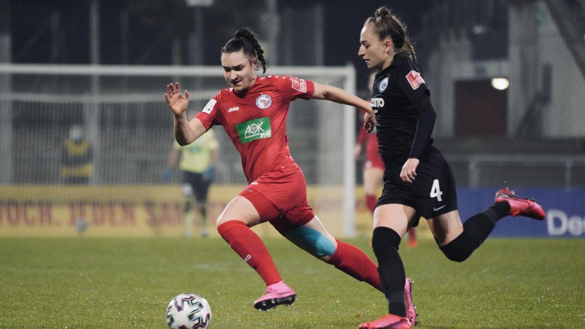 Das Spiel zwischen Eintracht Frankfurt und Turbine Potsdam wurde abgesagt