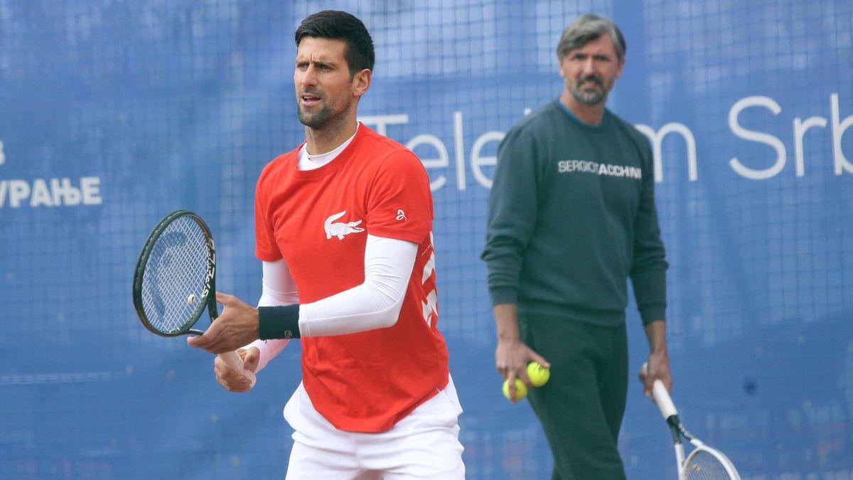 Goran Ivanisevic et Novak Djokovic à Belgrade en 2021