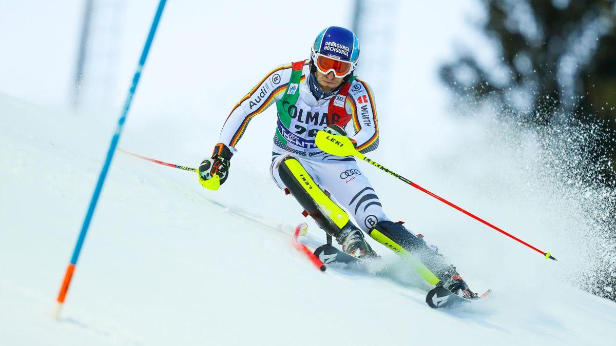 Fritz Dopfer im Slalom
