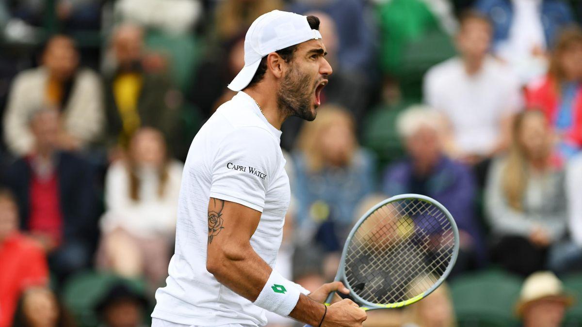 Matteo Berrettini steht in Wimbledon in der zweiten Runde