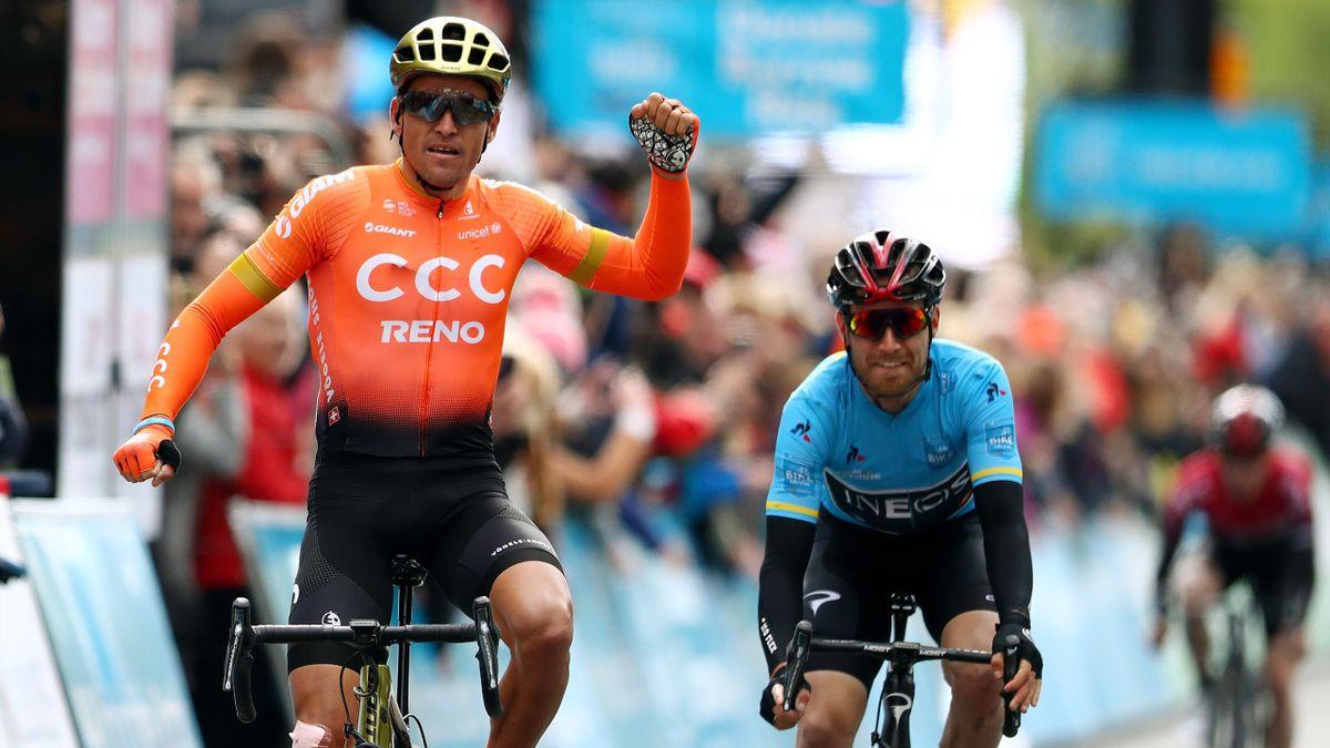 Greg Van Avermaet (CCC) et Christopher Lawless (Ineos) au Tour du Yorkshire
