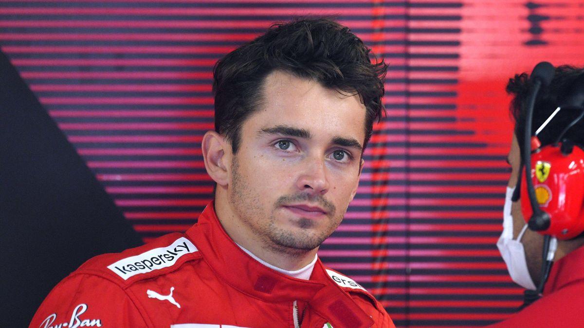 Charles Leclerc (Ferrari) au Grand Prix d'Italie, le 12 septembre 2021