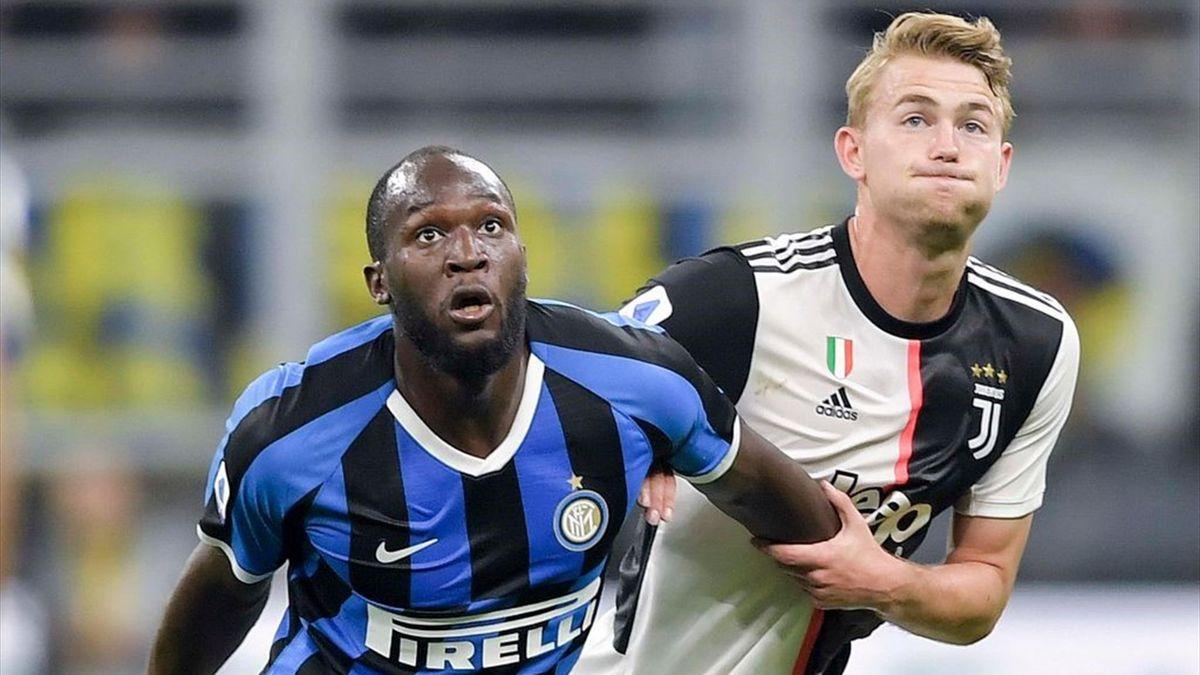 Romelu Lukaku e Matthijs de Ligt - Inter-Juventus