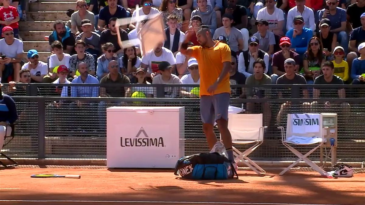 Masters Rome - Kyrgios disqualified after throwing chair