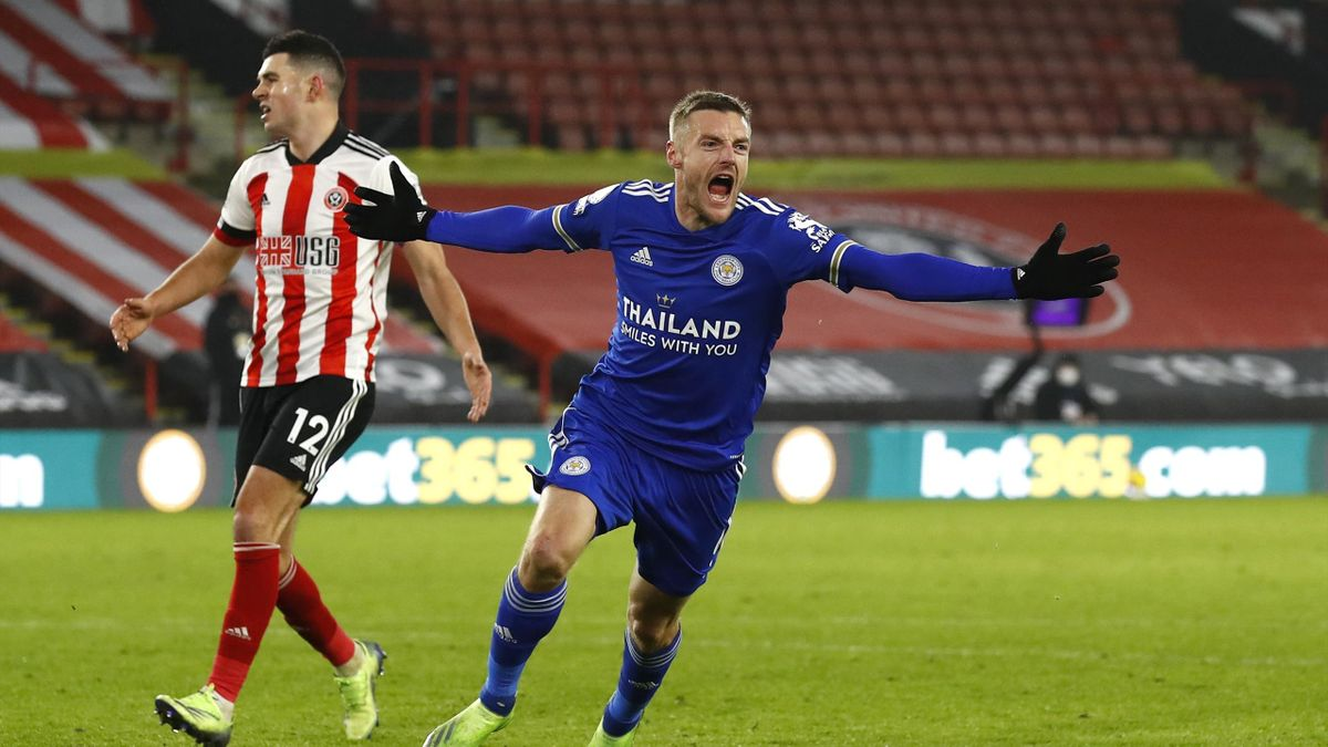 Premier League Jamie Vardy Pounces In Last Minute To Give Leicester City Win At Sheffield United Eurosport