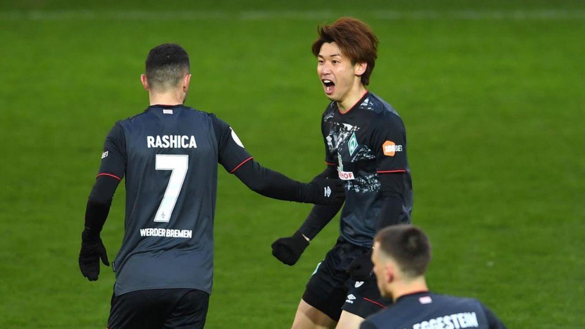 Yuyxa Osako schoss Werder Bremen ins Pokal-Halbfinale