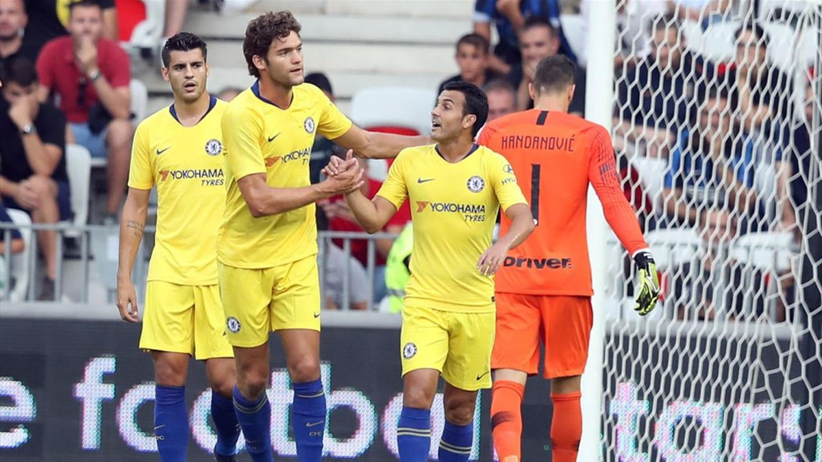 Marcos Alonso, Pedro, Handanovic - Chelsea-Inter - International Champions Cup 2018 - Getty Images